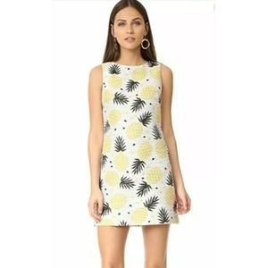 Alice + Olivia Clyde Pineapple Mini Shift Dress